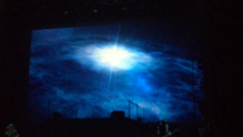 Инструментальная композиция на концерте Александра Панайотова и космический видеоряд. Шоу Чувствовать тебя. Санкт- Петербург.