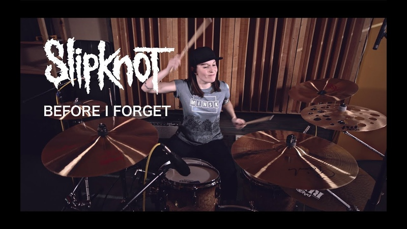 Slipknot - Before I Forget (drum cover by Vicky Fates)