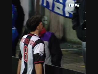 Первый гол ван Нистелроя в Лиге чемпионов