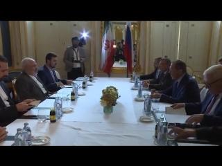 С мининдел Ирана Дж.Зарифом, Вена, 6 июля 2018 г.