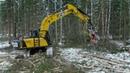 Гусеничный экскаватор JCB JS220 для лесозаготовки