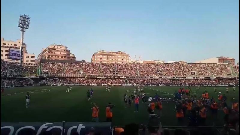 Стадион Кастельона перед матчем финала плей-офф за выход в Сегунду Б