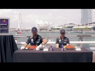 Daniel Ricciardo and Max Verstappen do a Smash N Crab job on Singapore