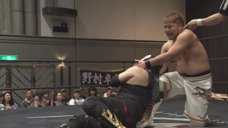 Takumi Tsukamoto, Daichi Kazato, Yasu Urano vs. FUMA, Yusuke Kubo, Ryu Goma (BASARA - Vajra 75 ~ Akatsuka Roku-Kason)