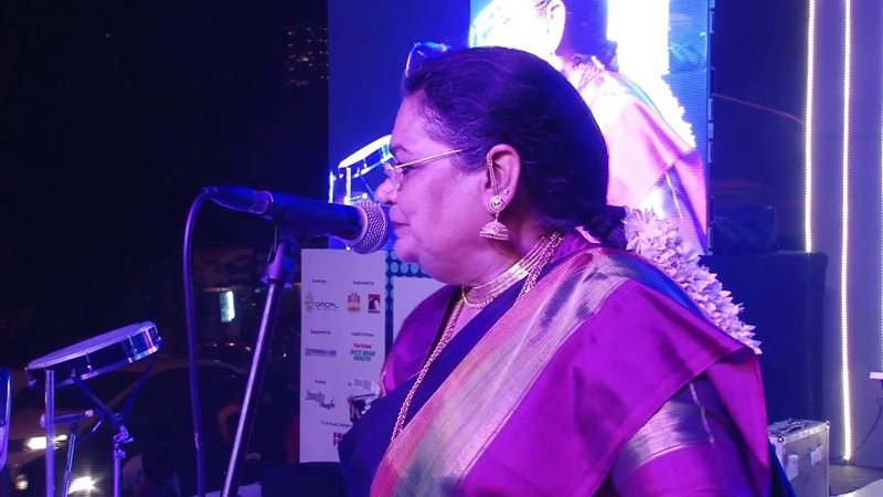 Usha Uthup Sings Dum Maaro Dum at Worli Festival 2014