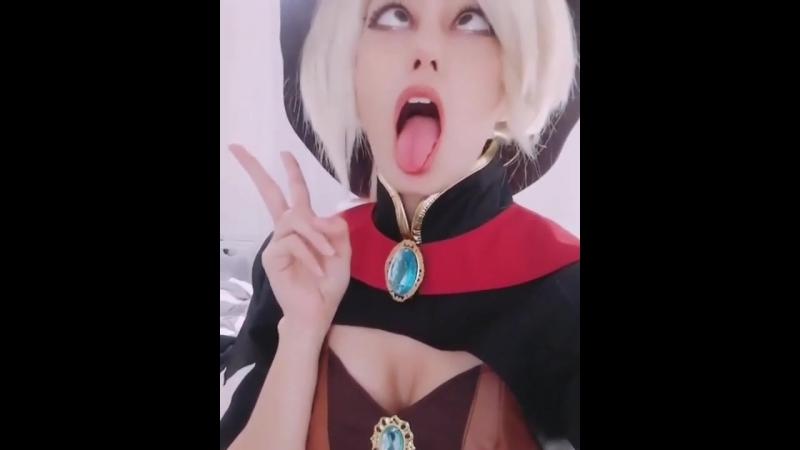 Ahegao Cosplay Mercy Overwatch (hentai)