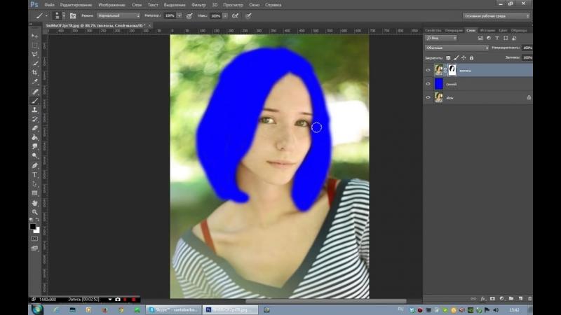 Как изменить цвет волос в программе Photoshop CS6 (1)