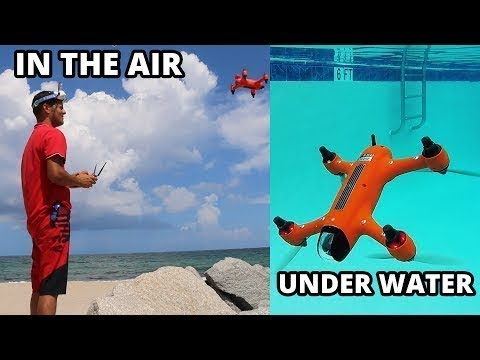 Spru Waterproof drone SPRY which is submerged under water