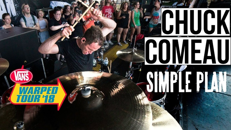 Chuck Comeau Simple Plan Jump WARPED TOUR '18 PERFORMANCE