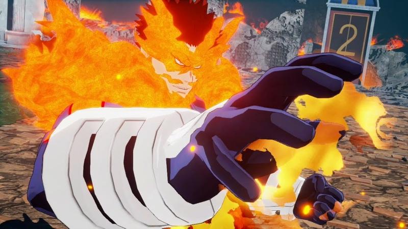 My Hero Academia One's Justice Endeavor Arcade Mode Walkthrough Official DLC 1080p 60fps