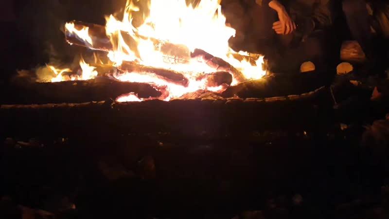 костёр в лагере сокол