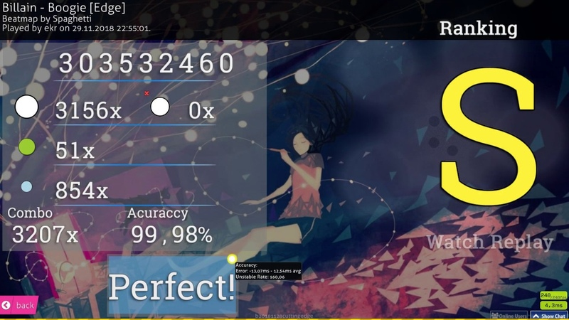 Osu!catch | ekr | Billain - Boogie [Edge] 99.98% FC 1 493pp