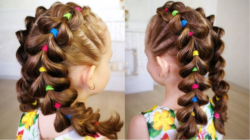 Bright braids! Hairstyle for girl. - Яркие косы для девочек!