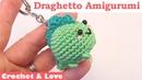 Tutorial mini Draghetto Amigurumi Portachiavi ad uncinetto sub English y Español