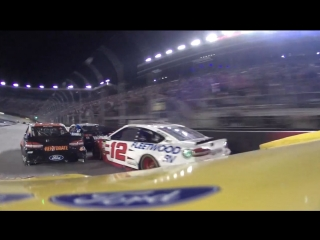 #22 - Joey Logano - Onboard - Bristol - Round 24 - 2018 Monster Energy NASCAR Cu