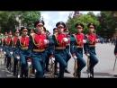 на церемонии прощания военнослужащих срочной службы Преображенского полка, уволенных в запас.