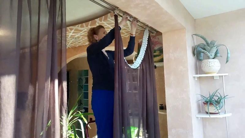 Стираем шторы скатерть покрывала