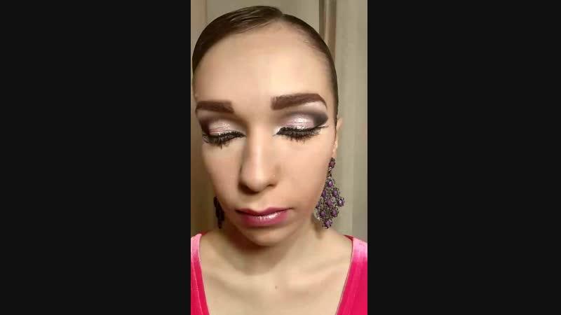 макияж для бальных танцев невест выпускных вечеров стилист Алия Гайсина