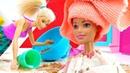 Мультик Барби Кукла моет голову. Играем в куклы