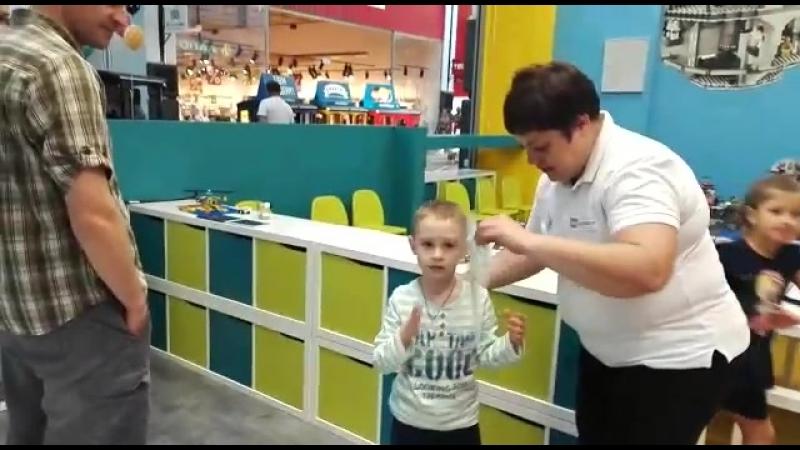 LEGO Education Вручение сертификата Сашенька молодец