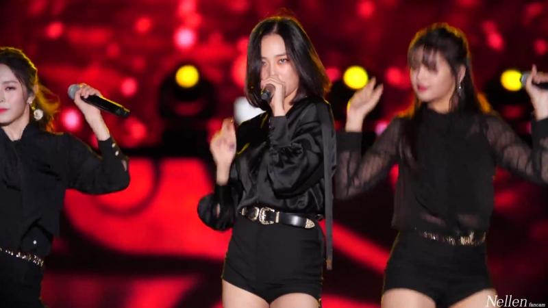 [4k 60p] 180901 clc(씨엘씨) 장예은 black dress(블랙드레스) 직캠 fancam by nellen @인천한류콘서트