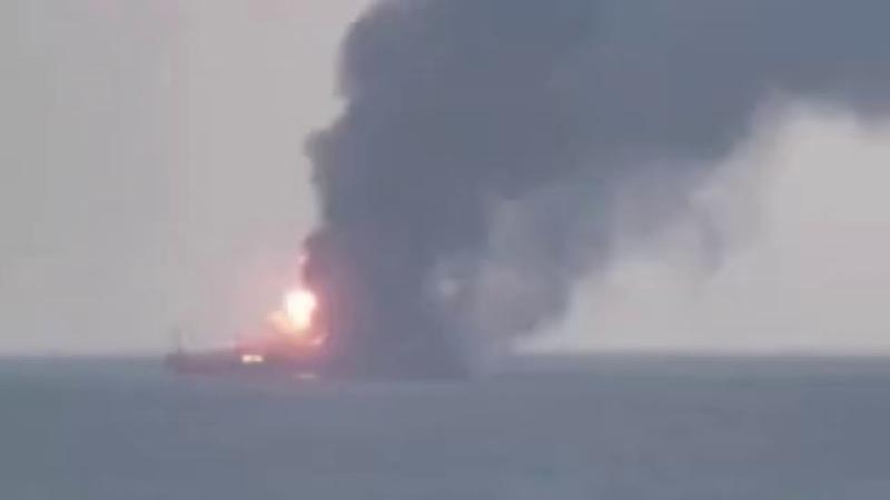 В Чёрном море горят два судна погибли 11 человек