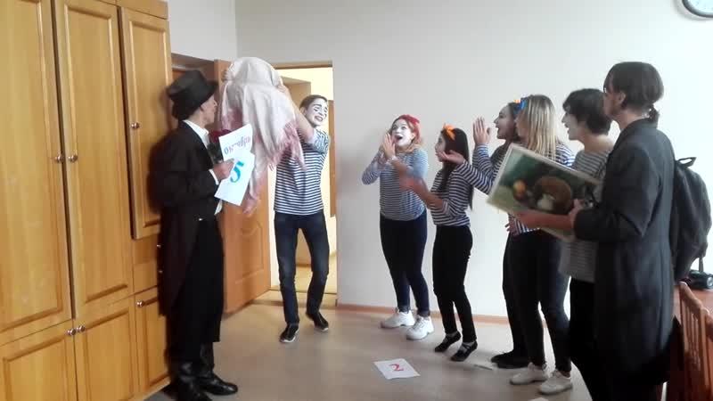 Студенты 3 курса специальности Актерское искусство. Поздравление с Днем учителя.mp4