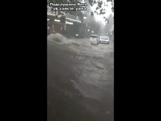 Перекресток Пушкинская - Боткинская после дождя