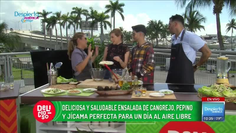 Deliciosa y saludable_ receta de Ensalada de cangrejo, pepino y jícama _ Delicioso