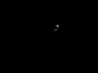 Транзит МКС по диску Сатурна.