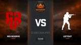 LeftOut vs Red Reserve, map 1 mirage, Europe Minor Closed Qualifier FACEIT Major 2018