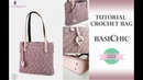 TUTORIAL CROCHET BAG | BASICHIC | WITH SUB | PUNTO MADELINE | UNCINETTO D'ARGENTO NINA HANDMADE