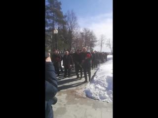 в память о Кемерово. возложение цветов в Ярославле