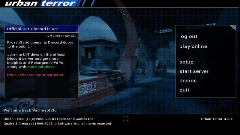 Urban Terror - это 3DGames , от FrozenSand, на движке Quake III Arena , map: ut4_eagle