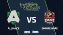 Alliance vs Team Empire Hope, Game 1, Group Stage, I Can't Believe It's Not Summit