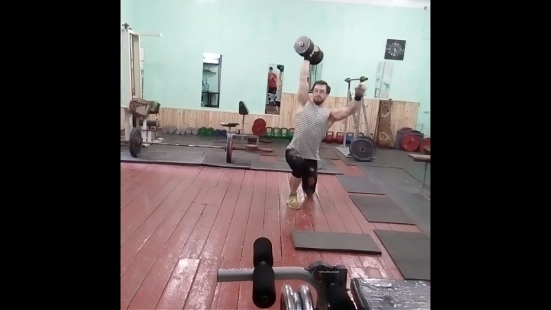 Overhead lunges 50 kg