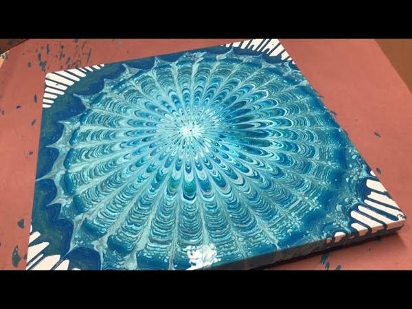 Fluid Painting Acrylic Dirty Pour ORGANIC MANDALA Wigglz Art Easy Beginners Technique Please Share
