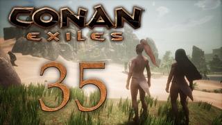 Conan Exiles - прохождение игры на русском - Первая вылазка в зимний биом [#35]   PC
