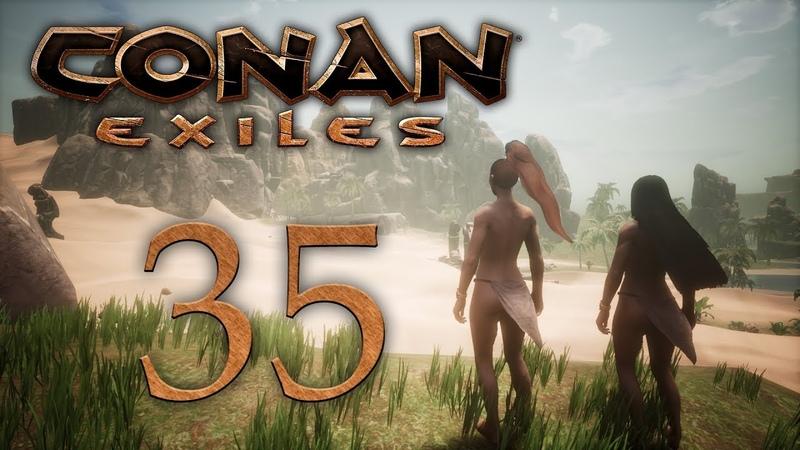 Conan Exiles - прохождение игры на русском - Первая вылазка в зимний биом [35] | PC