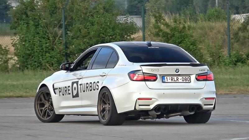 700HP BMW M3 F80 w/ PURE TURBOS DECAT Exhaust! REVS DRAG RACE!