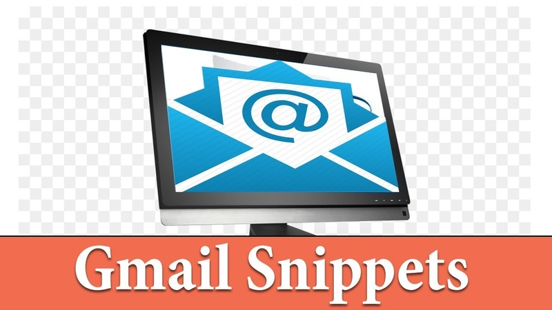 How To Compose Email Easily Using Gmail Snippets (Free)