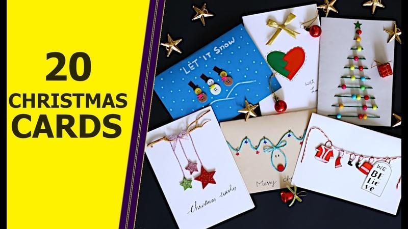 20 DIY GREETING CARD IDEAS | Christmas Card Ideas | Aloha Crafts