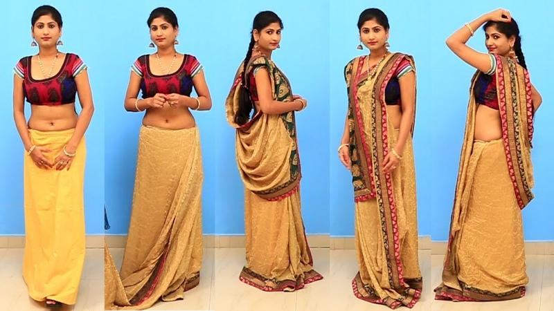 Bengali Style Saree Draping | Easy Saree Draping Tutorials In Different Styles