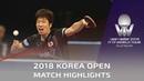 Mizutani Jun vs Dimitrij Ovtcharov   2018 Korea Open Highlights (R16)