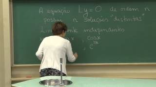 Cursos Unicamp - Cálculo III - E.D.O Linear de 2ª Ordem; Wronskiano - Parte 2