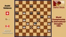 Marcel Deslauriers CAN André Gédance SUI World Championship in International Draughts 1952