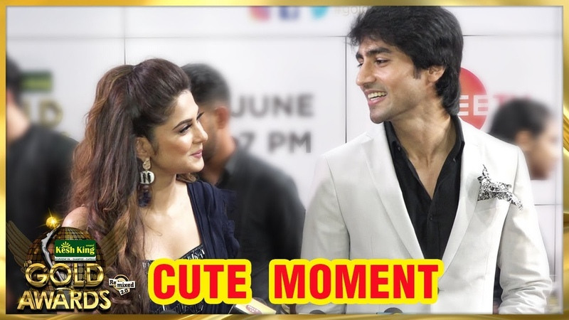 Jennifer Winget And Harshad Chopda CUTE MOMENTS On Zee Gold Awards 2018