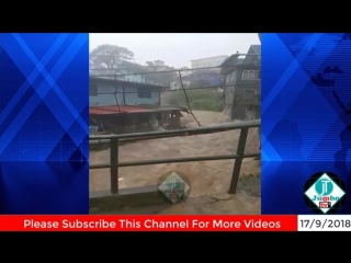 Typhoon Mangkhut in Hong Kong China 16 September 2018 - Super Typhoon