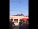Руфер, который прыгал по вагонам поезда.