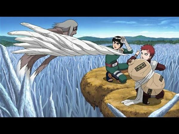 Гаара против Кимимаро Полный бой